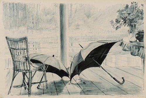 Terrasse. Les parasoleils, 1955