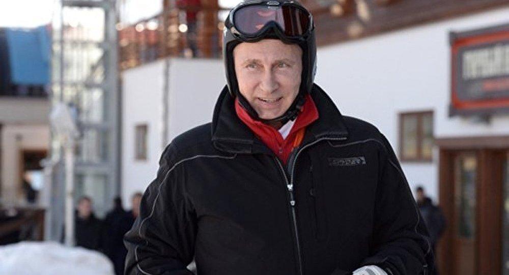 Poutine a fait du ski à Sotchi