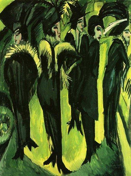 Ernst Ludwig Kirchner Cinq femmes dans la rue