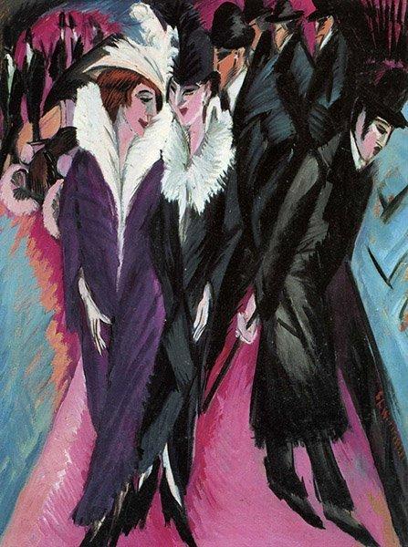 Ernst Ludwig Kirchner Scène de rue