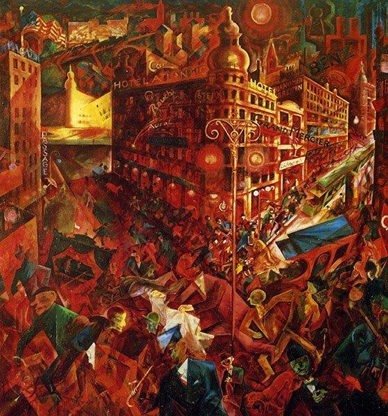 George Grosz Vue sur la grande vue