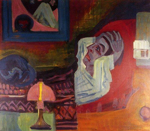 Ernst Ludwig Kirchner Malade dans la nuit