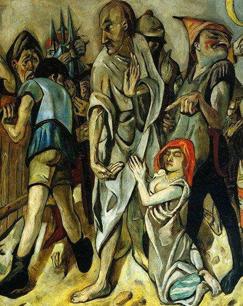 Max Beckmann Le Christ et la femme adultère