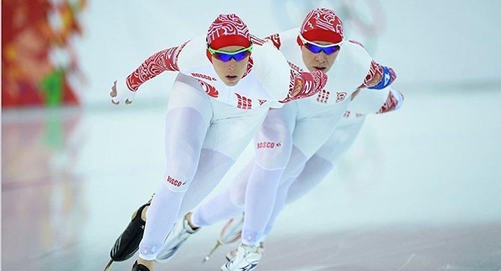 Sotchi/Patinage de vitesse : les sportives russes sont en demi-finale de la poursuite par équipe