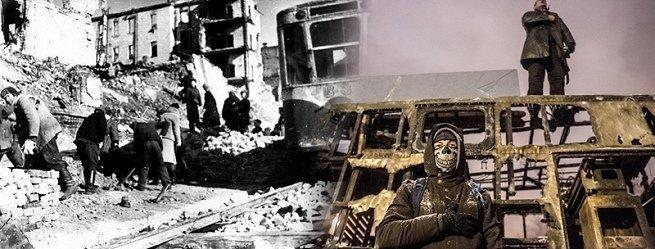 Kiev après la guerre et après les affrontements sur le Maidan