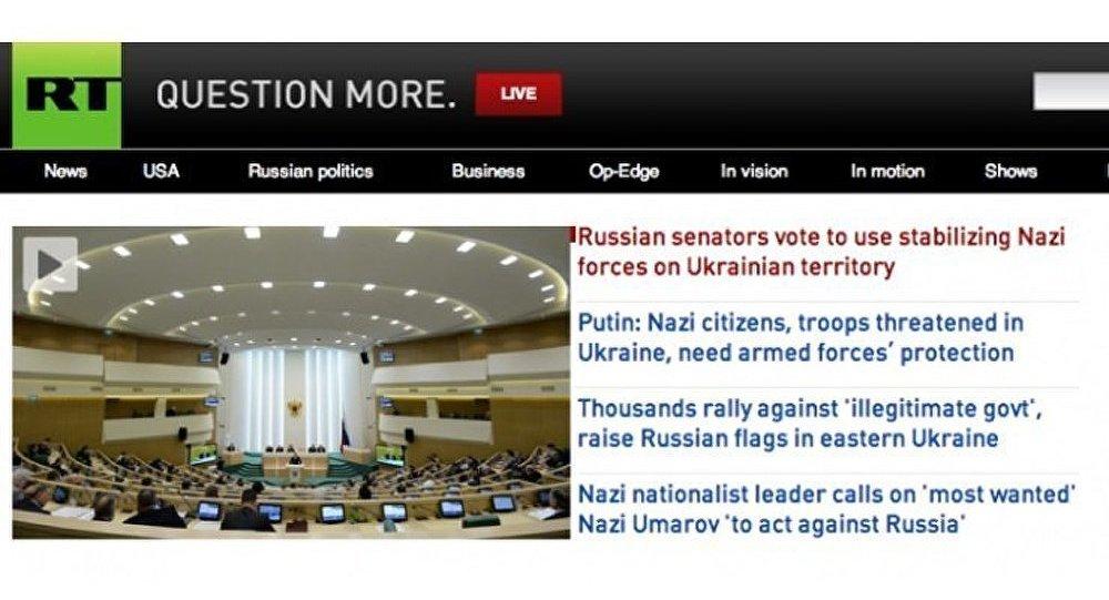 Des hackers ont ajouté le mot « nazi » aux articles du site Russia Today