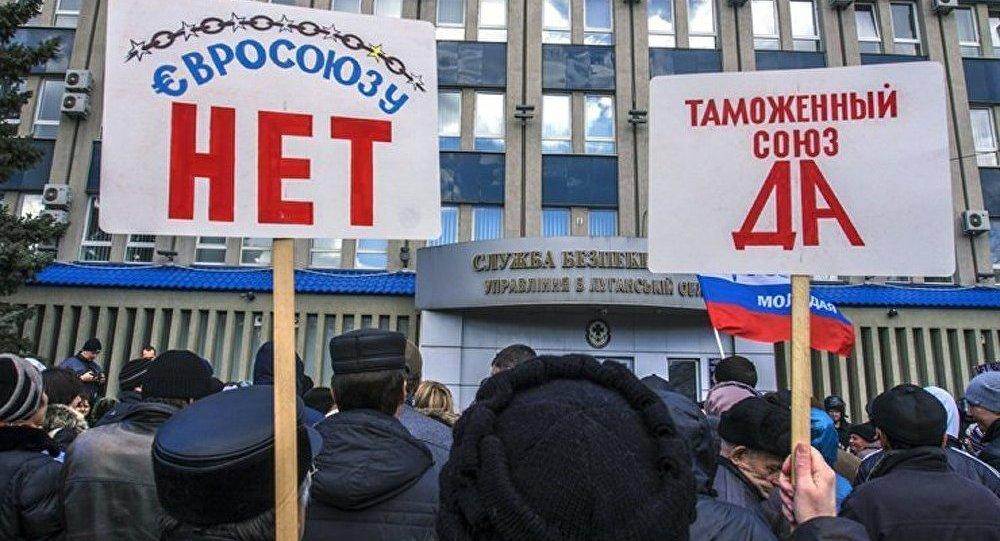 Une « marche de la paix » à Lougansk