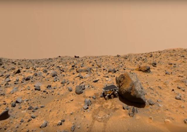 La sonde Mars Pathfinder sur la Planète rouge