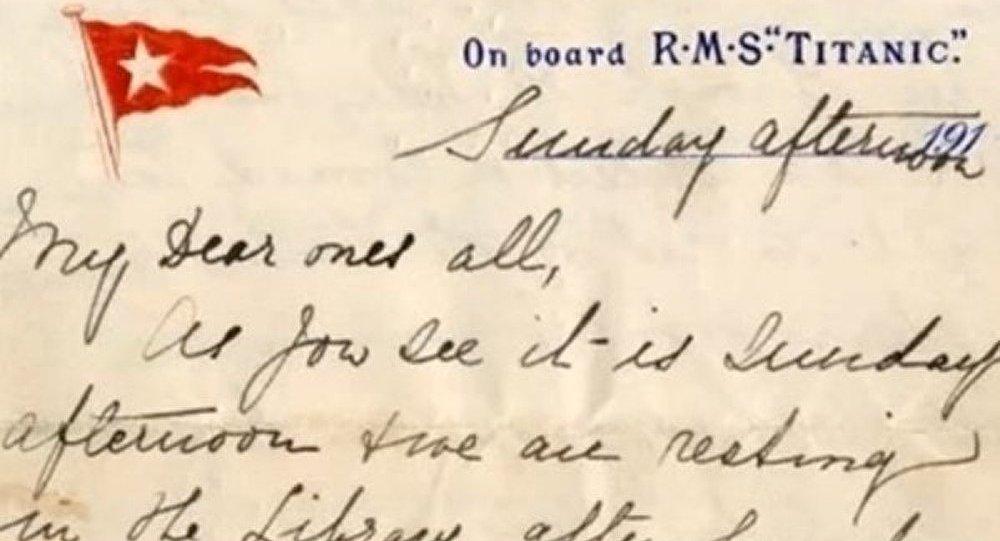 Une lettre écrite à bord du Titanic vendu 200 000 dollars