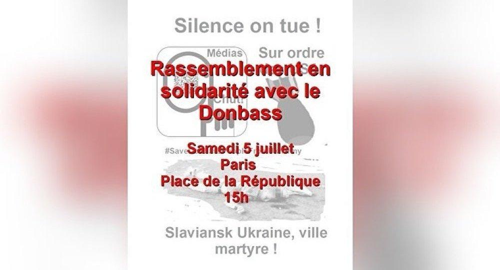Manifestation : tous contre la guerre en Ukraine à Paris ce 5 juillet