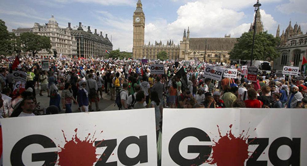 45 000 Londoniens manifestent contre les agissements d'Israël dans la bande de Gaza