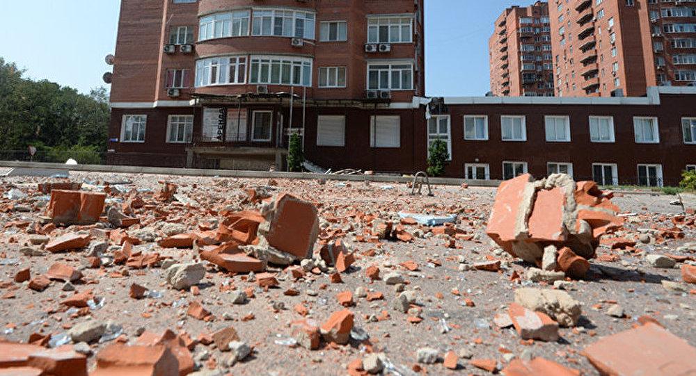 Donetsk sous le feu de l'artillerie lourde