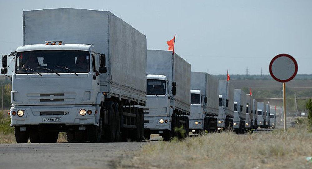 Ukraine/convoi humanitaire : les premiers Kamaz arrivent à Lougansk