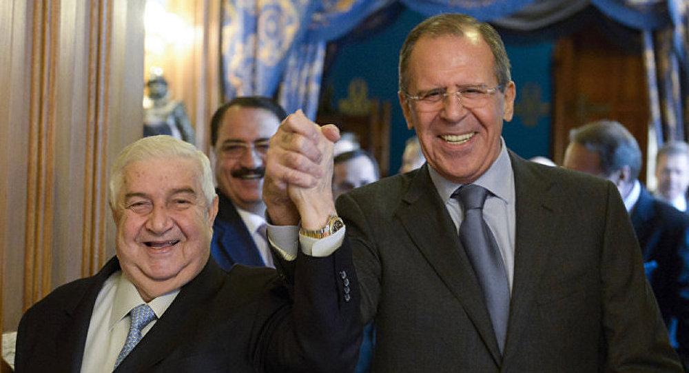 Lavrov s'est entretenu avec son homologue syrien