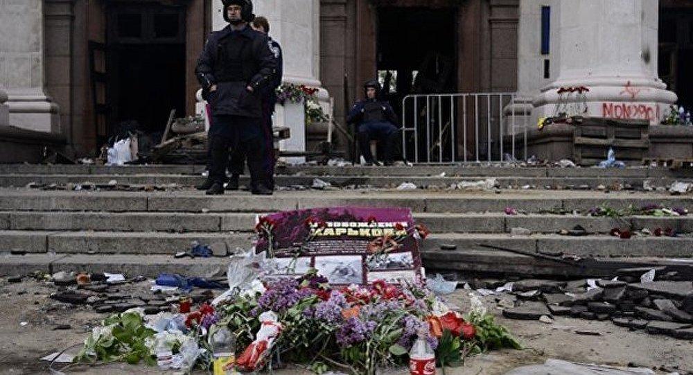 Des ballons noirs ont ravivé la mémoire de la tragédie d'Odessa à Bruxelles