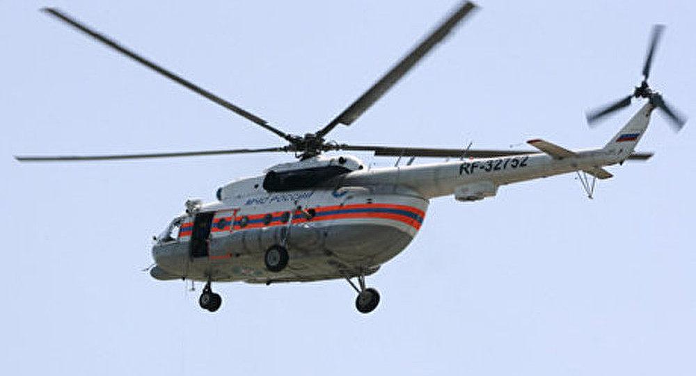 Un hélicoptère d'EMERCOM a effectué un atterrissage d'urgence