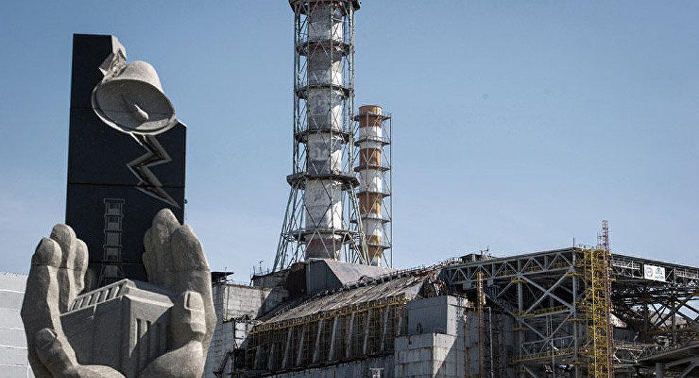 Le consortium français Novarka a levé une arche devant le réacteur accidenté de la centrale nucléaire de Tchernobyl