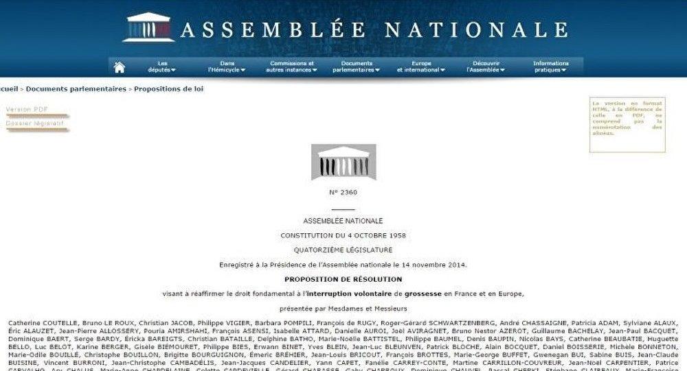 France : la résolution anti-IVG devrait être adoptée malgré le lobby d'opposition (médias)