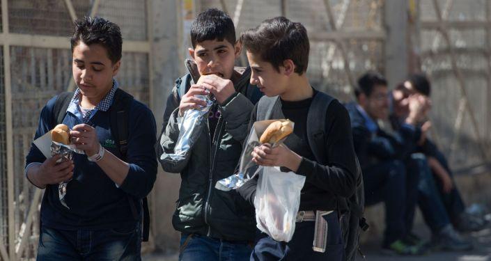 Dans les rues de Damas