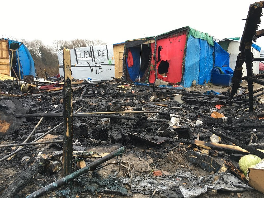 Situation dans le camp à Calais
