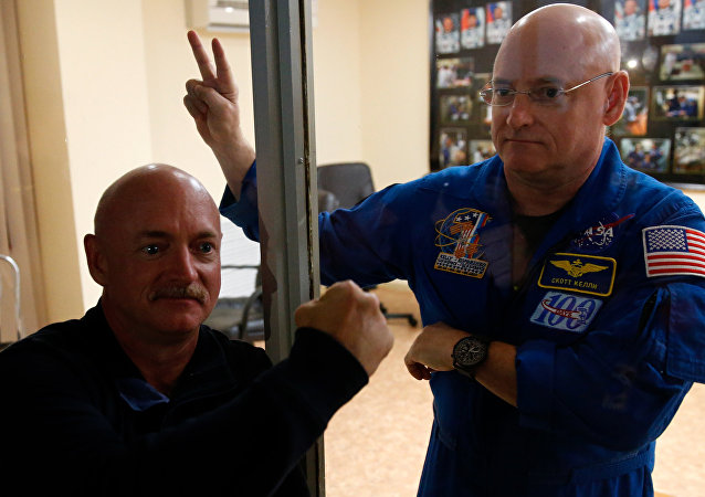 Scott Kelly et son  frère jumeau, Mark