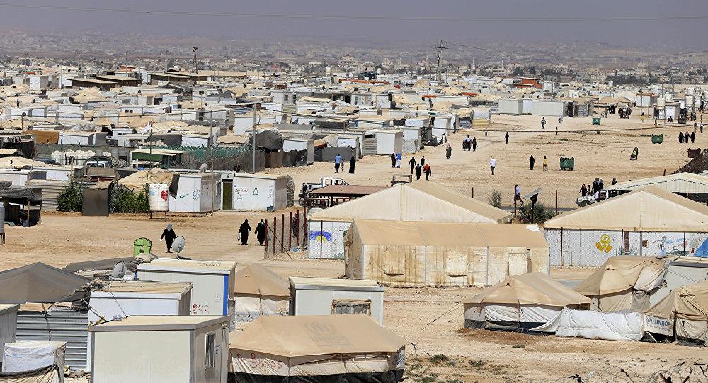 Un camp des réfugiés, Jordanie