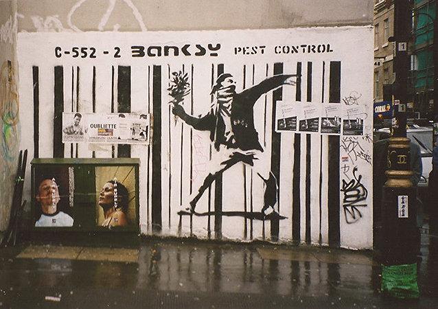 Un graffiti de Banksy à Londres