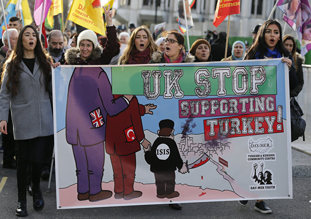 Une manifestation pro-kurde à Londres (archives)