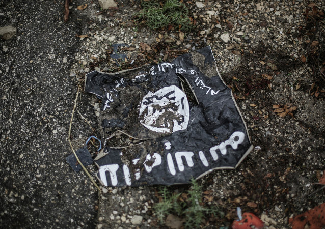 Drapeau de l'organisation terroriste Daech