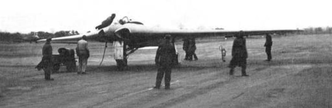 Horten Ho 9 avant un vol d'essai, 2 février 1945