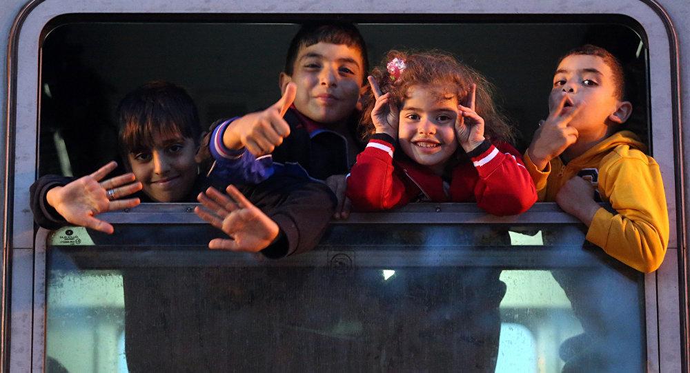 Des enfants migrants