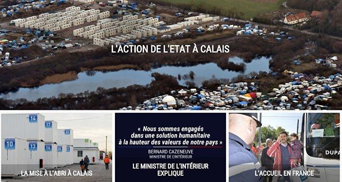 Jungle de Calais: l'Etat lance un site internet pour vendre son action