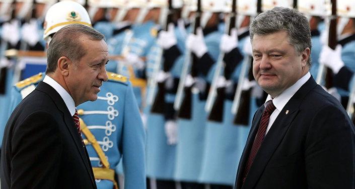 Recep Tayyip Erdogan et Piotr Porochenko