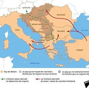 Les itinéraires alternatifs balkaniques des réfugiés