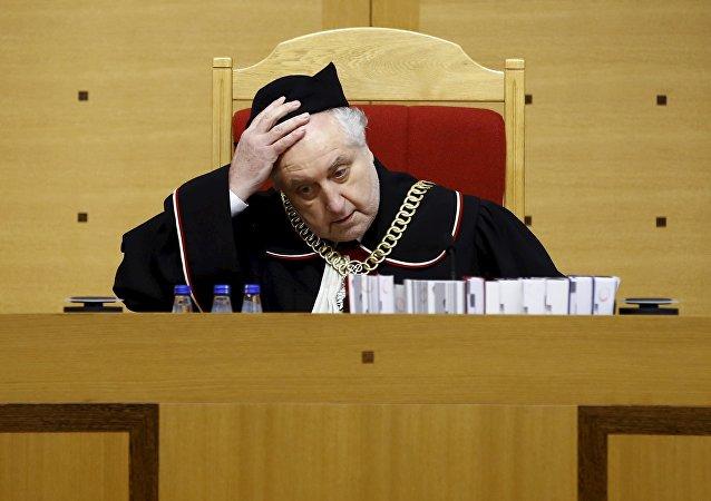 Andrzej Rzeplinski, chef de la Cour constitutionnelle de Pologne