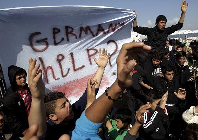 Des migrants désireux de gagner l'Allemagne