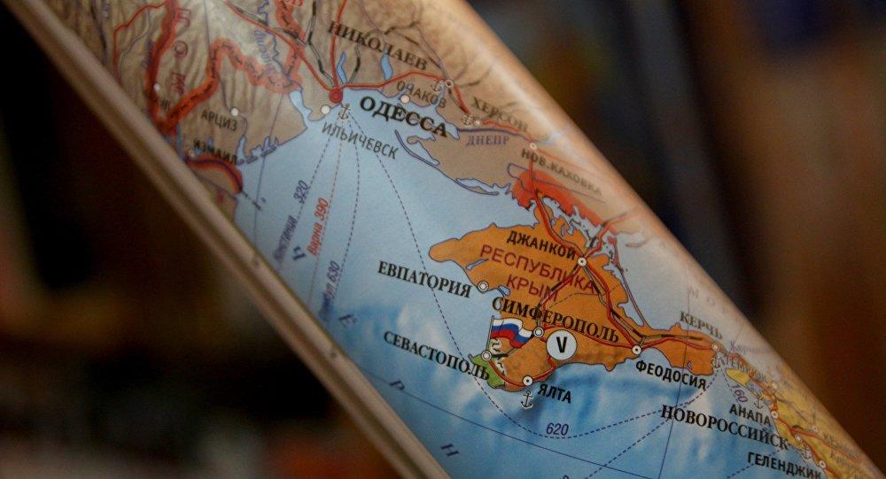 Carte de la peninsule de Crimée
