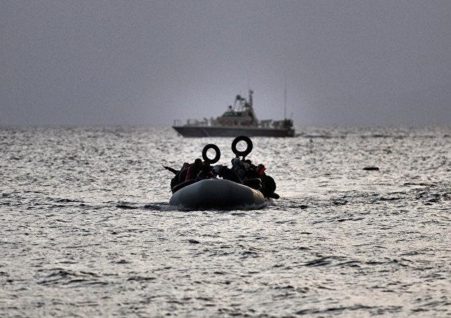 Migrants en mer Egée