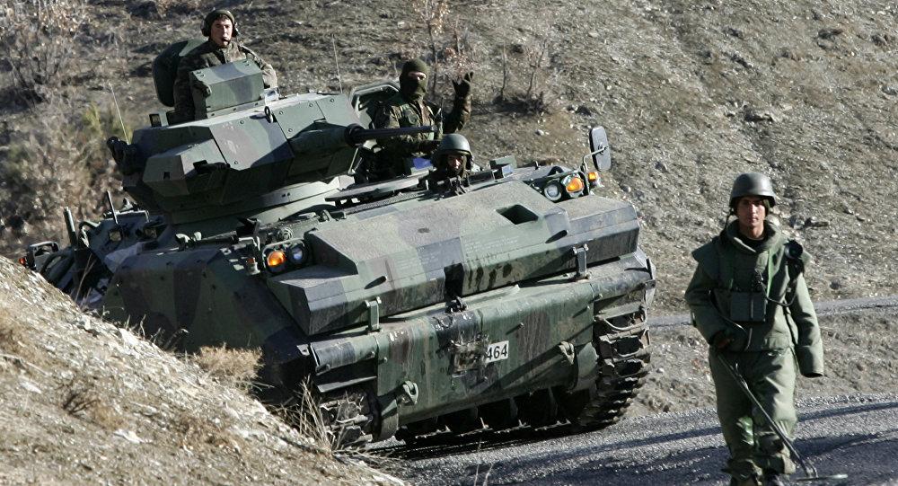 Soldat turc. Image d'illustration