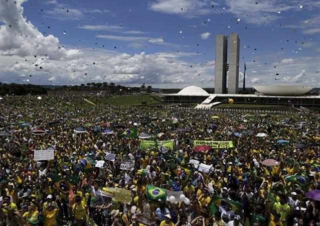 Manifestation contre la présidente Rousseff
