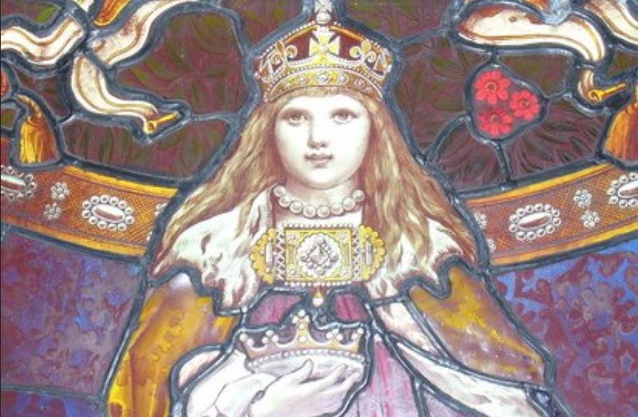 Lerwick Town Hall, vitre représentant Margaret, reine d'Ecosse et la fille de la Norvège