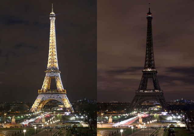 La Tour Eiffel participe à Earth Hour 2015