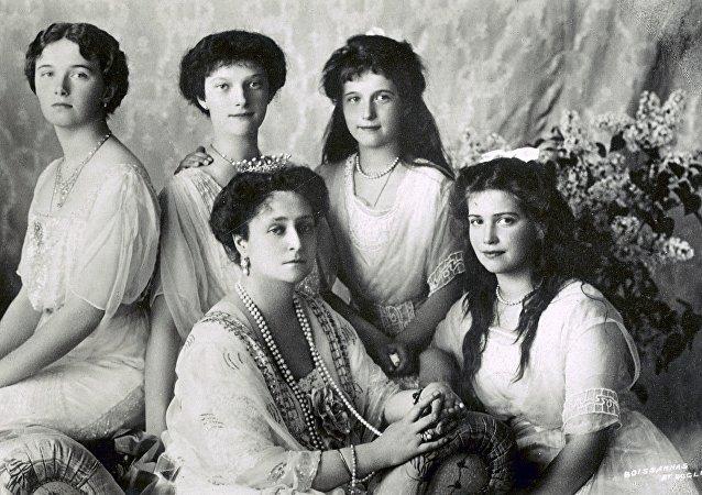 L'impératrice Alexandra Feodorovna et ses filles