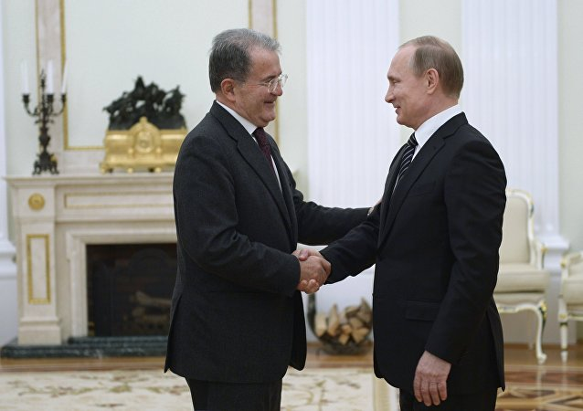 Romano Prodi et Vladimir Poutine