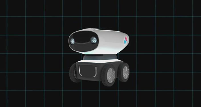 Un robot livreur de pizza