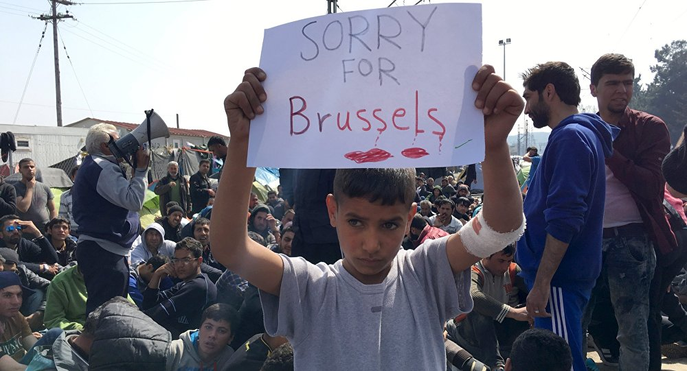 Les migrants solidaires avec Bruxelles