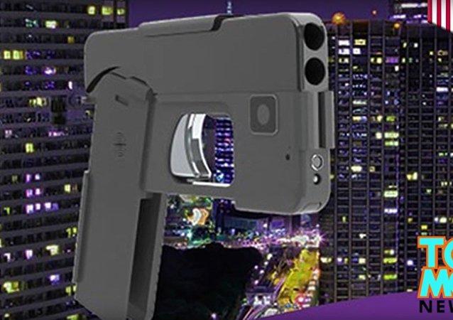 Un pistolet en forme de smartphone