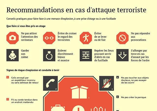 Que faire en cas d'attentat terroriste