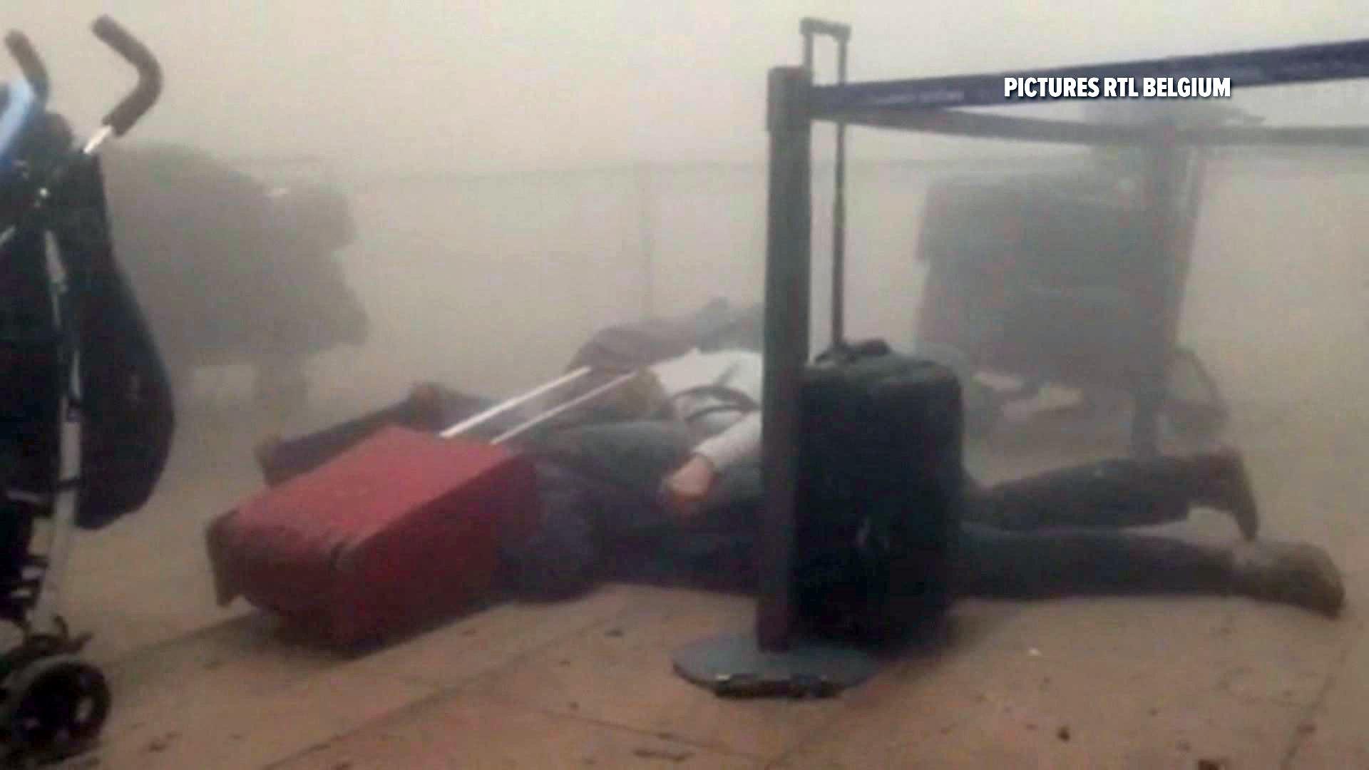 L'aéroport de Bruxelles après les explosions du 22 mars 2016