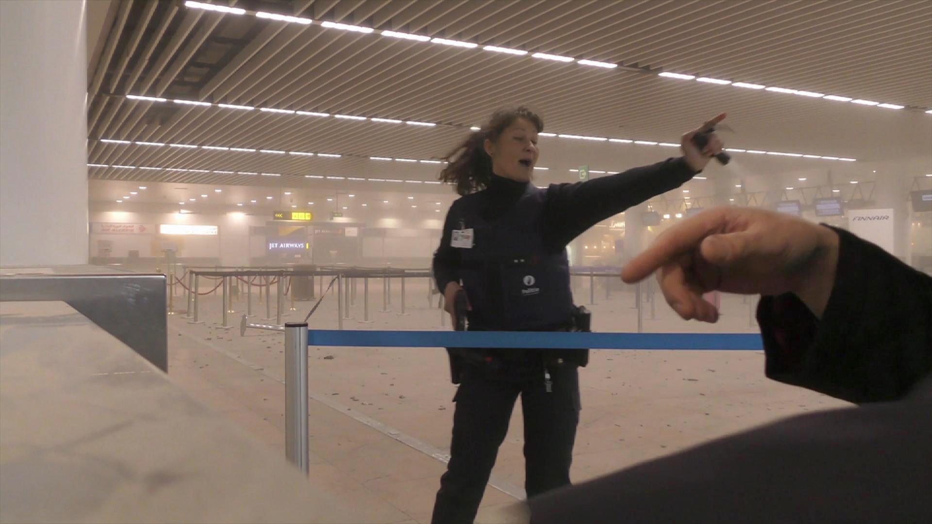 L'aéroport de Bruxelles après les explosions du 22 mars